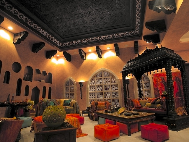 Moroccan living room design